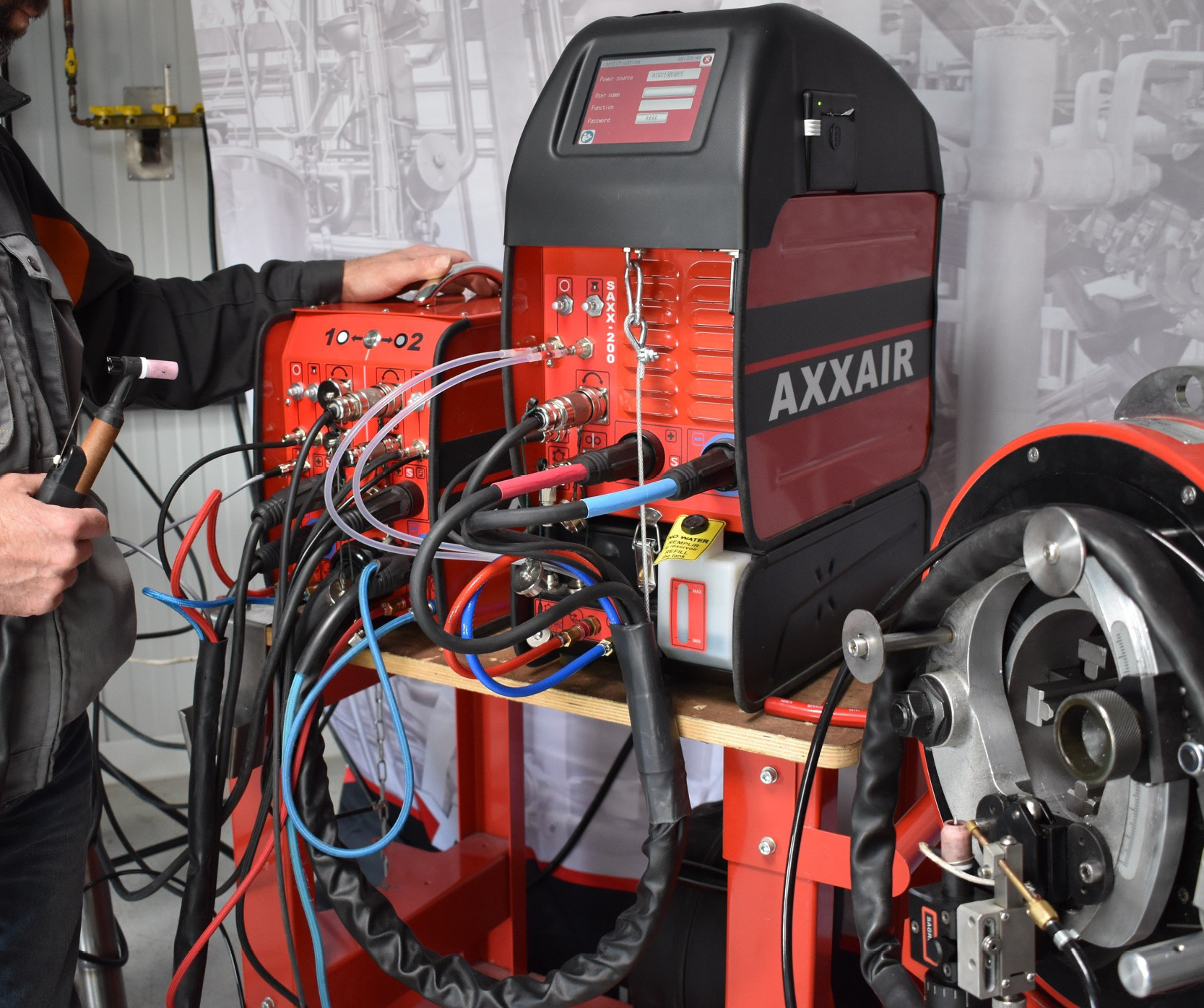 Different configurations for the orbital welding power supply SAXX