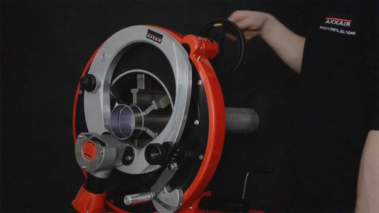 AXXAIR saldatura smusso taglio-dressage-orbitale-video